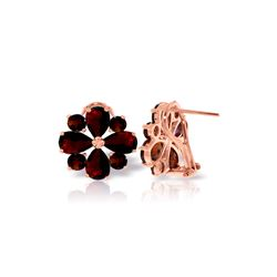 Genuine 4.85 ctw Garnet Earrings 14KT Rose Gold