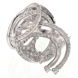 2.22 CTW Diamond Ring 18K White Gold