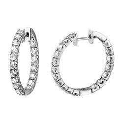 2.18 CTW Diamond Earrings 14K White Gold