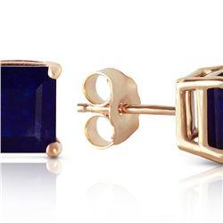 Genuine 2.9 ctw Sapphire Earrings 14KT Yellow Gold
