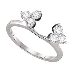 0.75 CTW Diamond Ring 14kt White Gold