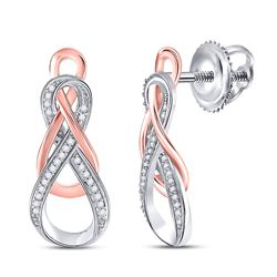 0.12 CTW Diamond Fashion Earrings 10kt Two-tone Gold