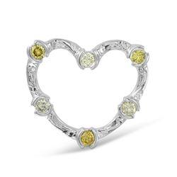 0.55 CTW Diamond Pendant 14K White Gold