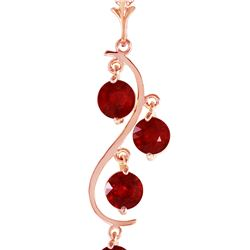 Genuine 2 ctw Ruby Necklace 14KT Rose Gold
