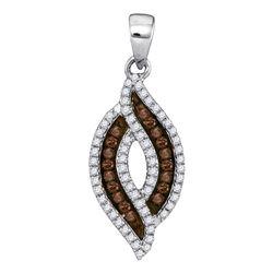 0.30 CTW Brown Diamond Fashion Pendant 10kt White Gold
