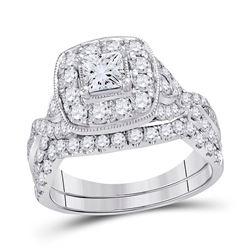 1.97 CTW Diamond Bridal Wedding Engagement Ring 14kt White Gold