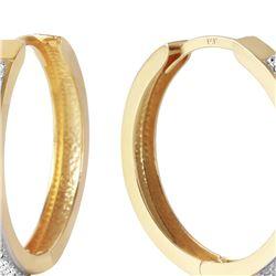 Genuine 0.28 ctw Diamond Anniversary Earrings 14KT Yellow Gold