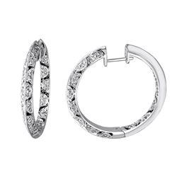 0.74 CTW Diamond Earrings 14K White Gold
