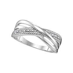 0.02 CTW Diamond Crossover Ring 10kt White Gold