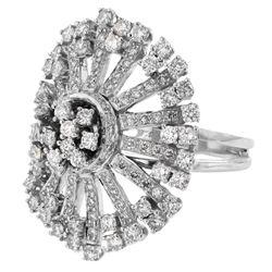 2.56 CTW Diamond Ring 18K White Gold