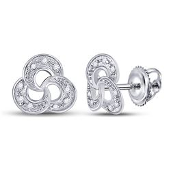 0.06 CTW Diamond Trinity Fashion Earrings 10kt White Gold