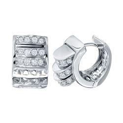 0.82 CTW Diamond Earrings 18K White Gold