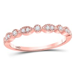 0.17 CTW Diamond Dot Stackable Ring 10kt Rose Gold