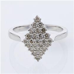 0.54 CTW Diamond Ring 14K White Gold