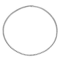11.24 CTW Diamond Necklace 18K White Gold