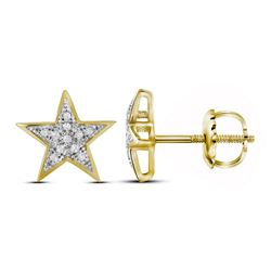 0.05 CTW Diamond Star Earrings 10kt Yellow Gold