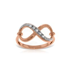 Genuine 0.03 ctw Diamond Anniversary Ring 14KT Rose Gold