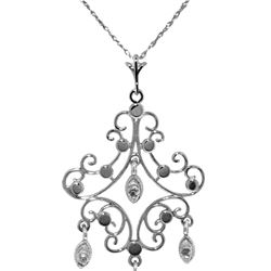 Genuine 0.02 ctw Diamond Anniversary Necklace 14KT White Gold