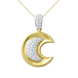0.52 CTW Diamond Necklace 18K 2Tone Gold