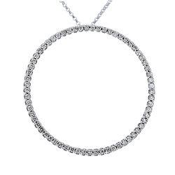 0.89 CTW Diamond Necklace 14K White Gold