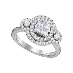 0.84 CTW Diamond Circle Cluster Ring 14kt White Gold
