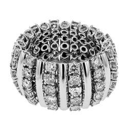 4.9 CTW Diamond Ring 14K White Gold