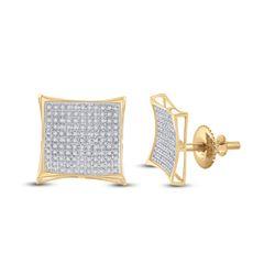 0.75 CTW Diamond Kite Cluster Earrings 10kt Yellow Gold