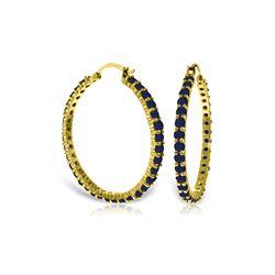 Genuine 6 ctw Sapphire Earrings 14KT Yellow Gold