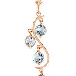 Genuine 2.25 ctw Aquamarine Necklace 14KT Rose Gold