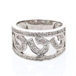 0.40 CTW Diamond Ring 18K White Gold