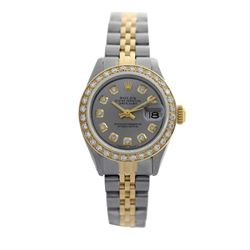 Rolex Pre-owned 26mm Womens Custom Grey Two Tone