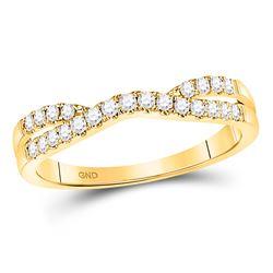 0.25 CTW Diamond Contour Enhancer Wedding Ring 14kt Yellow Gold