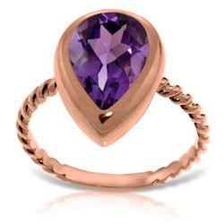 Genuine 2.5 ctw Amethyst Ring 14KT Rose Gold