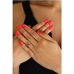 Natural 0.55 ctw Black Diamond Solitaire Ring 14K White Gold