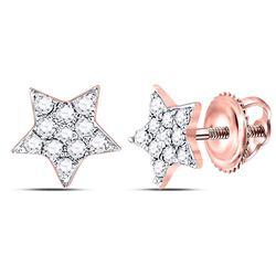 0.15 CTW Diamond Star Earrings 10kt Rose Gold