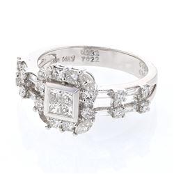 1.16 CTW Diamond Ring 14K White Gold