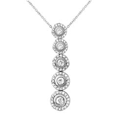 1 CTW Diamond Necklace 14K White Gold