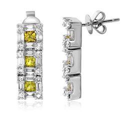3.19 CTW Diamond Earrings 14K White Gold