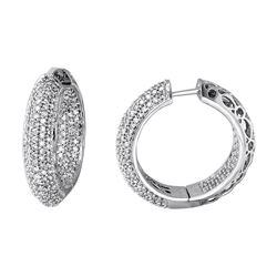 2.85 CTW Diamond Earrings 14K White Gold