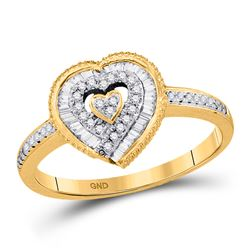 0.24 CTW Diamond Heart Ring 10kt Yellow Gold