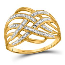 0.05 CTW Diamond Woven Fashion Ring 10kt Yellow Gold