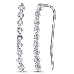 0.05 CTW Diamond Climber Earrings 10kt White Gold
