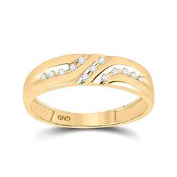 0.12 CTW Diamond Wedding Ring 10kt Yellow Gold