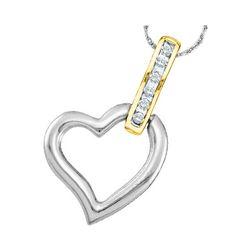 0.05 CTW Diamond Heart Pendant 10kt Two-tone Gold