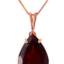 Genuine 5 ctw Garnet Necklace 14KT Rose Gold