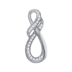 0.10 CTW Diamond Twist Fashion Pendant 10kt White Gold