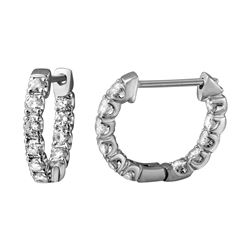 1.04 CTW Diamond Earrings 14K White Gold