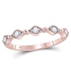 0.12 CTW Diamond Contour Stackable Ring 10kt Rose Gold