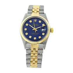 Rolex Pre-owned 36mm Mens Blue Two Tone