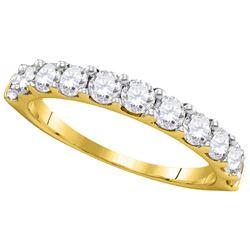 1 CTW Pave-set Diamond Wedding Ring 14kt Yellow Gold